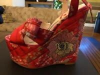Kurt Geiger Halo Red Wedges size 37 BRAND NEW IN BOX never worn