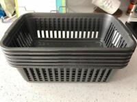 Trays x6 in grey