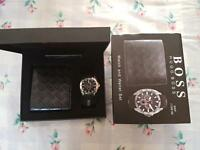 Hugo boss wallet and watch set