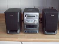 AIWA mini stereo unit with VHF radio,CD player and cassette player.