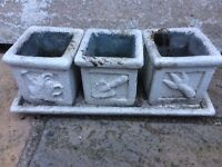7 Stone candle holders