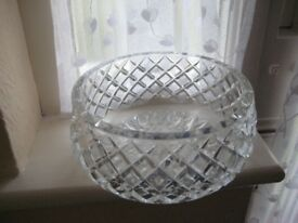 Vintage Crystal Cut-Glass Fruit Bowl