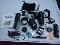 Nikon D40X 10.2MP Digital SLR Camera Kit + Nikon AF-S 55-200mm f/4-5.6G DX VR