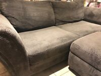 DFS 3 seater sofa and footstool
