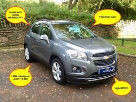 12mth WARRANTY/LOW miles/FSH/LEATHER! Chevrolet TRAX LT 1.6 petrol manual 2013 (13) ALLOYS nice SPEC