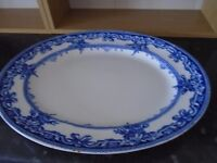 large old oval meat plate