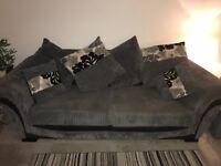 Grey & black 2/3 seater sofa
