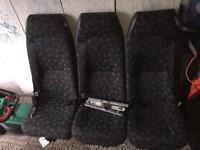 Mercedes vito rear seat with belts