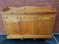 Beautiful solid pine stripped sideboard