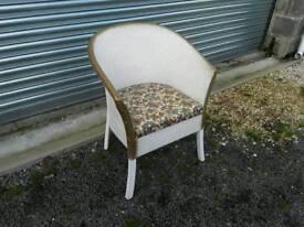 Lloyd Loom style bedroom chair