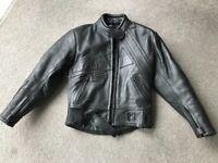 Leather Motorcycle Jacket - Ladies Small UK 10