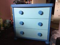 IKEA Blue Mammut 3 Drawer Chest for Child's Room