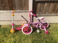 Bike and scooter for ages 3/5