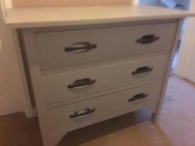 Chest of Drawers Grey/Beige Colour