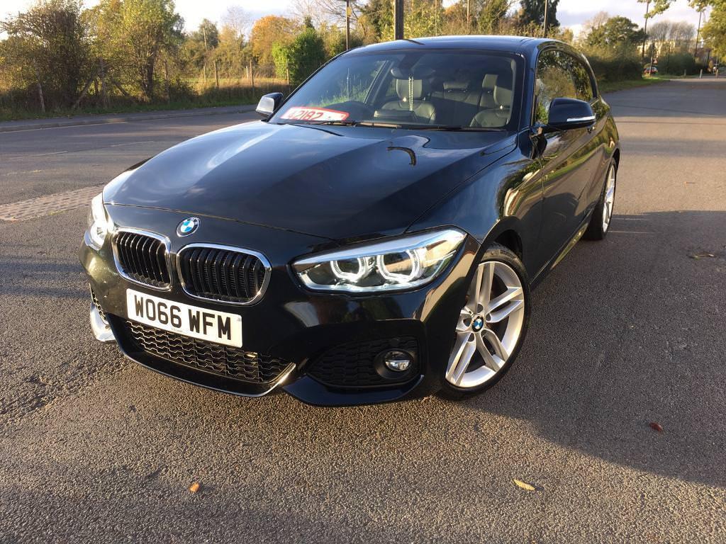 BMW 120d M SPORT 66-2017 IN BLACK 3 DOOR