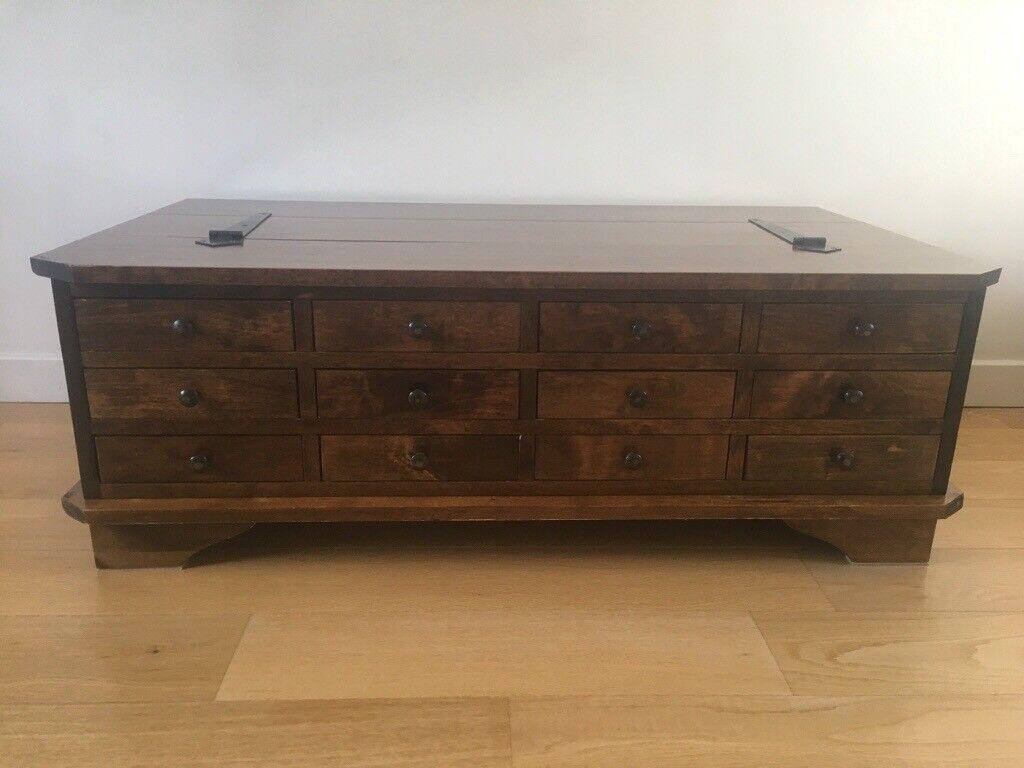 Laura Ashley Garrat Chestnut Large 12 Drawer Coffee Table In North Berwick East Lothian Gumtree