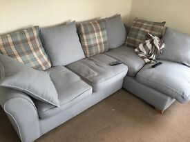 Sofa, chair, foot stool for sale, excellent condition bought brand new!