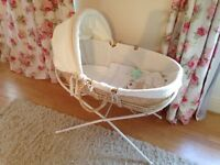 Moses Basket, Stand and Bedding