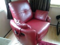 Ex gillies red armchair it swivels top quality £295
