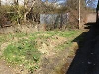 Land for sale suitable for garages freehold aprox 10 x 9 mtrs Rhymney rear of Goshen st.