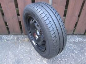 "Ford Ka 14"" spare wheel 175/65/14 Michelin tyre old stock part worn"