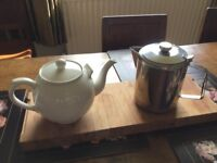 Two large T Pots