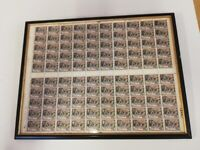The Glastonbury Thorn 100 Stamps Sheet Framed