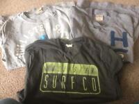 3 Hollister T-shirts Large Men's