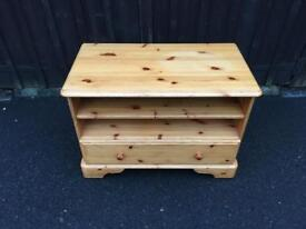 Pine TV Unit ( Can Deliver )