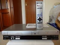 PANASONIC DVD PLAYER & VIDEO CASSETTE RECORDER - AS NEW
