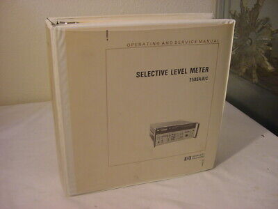 Vtg Hewlett Packard Manual Hp Selective Level Meter 3586abc