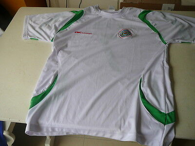 football jersey vintage Iraq XXL white and green no.7 football image