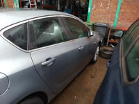 Vauxhall Astra MK 6 /J Drivers Rear Door in Silver 2010 11 12 13 14 2015 O/S/R Ring for more info