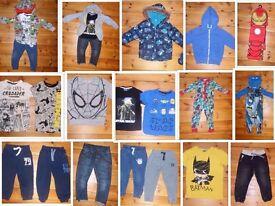 Boys Clothes Bundle Age 3-4+ Next George, Star Wars, Spiderman, Avengers, Nutmeg 38 Pieces