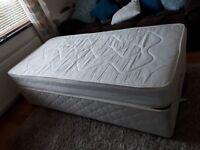 Single divan bed for sale.