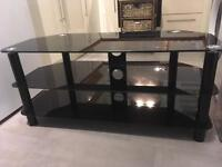 42inch black glass tv stand