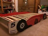 Race car single bed frame