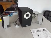 TRUST Soundforce 2.1 pro computer speaker set.