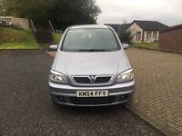 Vauxhall Zafira sri dti Turbo Diesel 2.0cc 100bhp 5 door mpv 7 seater 54/2004 125k part service hiso