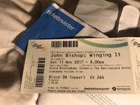 2x John Bishop Tickets for 11th November 2017