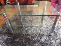 Glass & Chrome TV unit - Excellent Condition