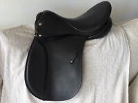 Horse Riding Saddle - Black English Show/Dressage Saddle by Champion.