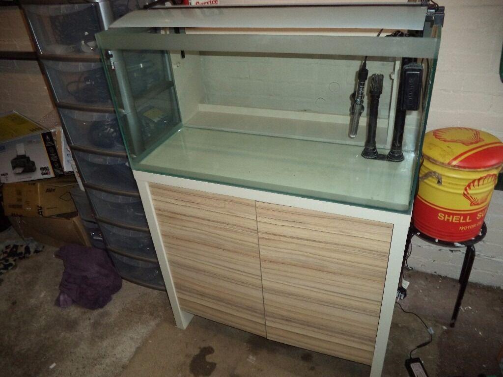 Fish aquarium kidderminster - Fluval Fresh F 90 Aquarium Fish Tank 129 L Stand And All