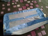 Blue baby bed guard