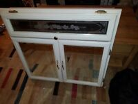 Large White Bathroom Cabinet, with mirror doors