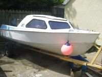 Joe Aldrood 14ft fishing boat for sale with 10hp yamaha engine and trailer