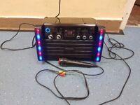 Karaoke machine with lights cd player kareoke