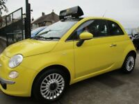 FIAT 500 1.2 Lounge 3dr (start/stop) (yellow) 2012