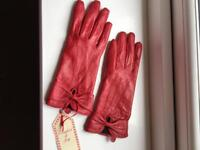 New Red leather gloves - ideal Christmas present