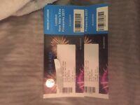 London Fireworks NYE tickets x2 blue area